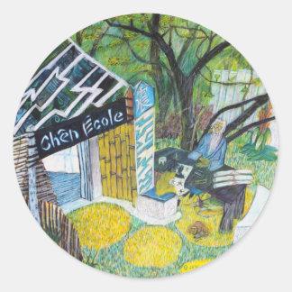 Chen Ecole Round Sticker