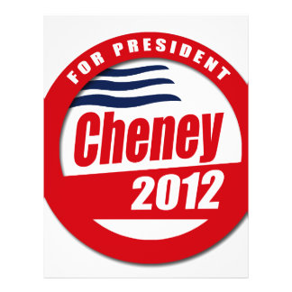 Cheney 2012 Button Personalized Flyer