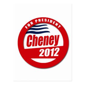 Cheney 2012 Button Postcard
