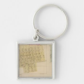 Cheney, Andale, Mulvane, and Milan, Kansas Silver-Colored Square Key Ring