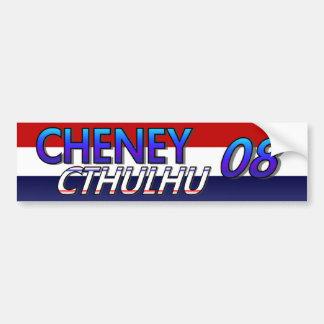 Cheney Cthulhu 08 Sticker Car Bumper Sticker