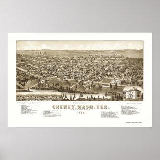 Cheney, WA Panoramic Map - 1884 Poster
