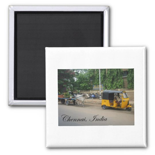 Chennai, India Square Magnet