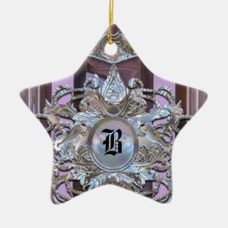 Chenonceau Baroque Elegant Monogram Christmas Tree Ornaments