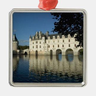 Chenonceau Chateau, River Cher, Loir-et-Cher, 2 Silver-Colored Square Decoration