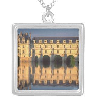 Chenonceau Chateau, River Cher, Loir-et-Cher, Silver Plated Necklace