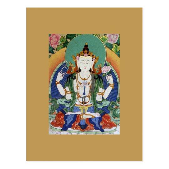 Chenrezig Bodhisattva of Compassion Postcard