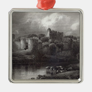 Chepstow Castle, engraved by R. Hinshelwood Christmas Ornament