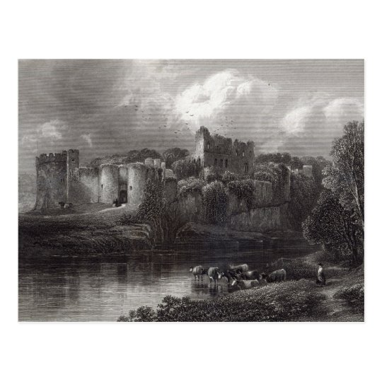 Chepstow Castle, engraved by R. Hinshelwood Postcard