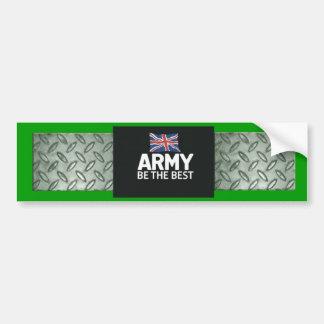 chequer-plate, Army Bumper Sticker