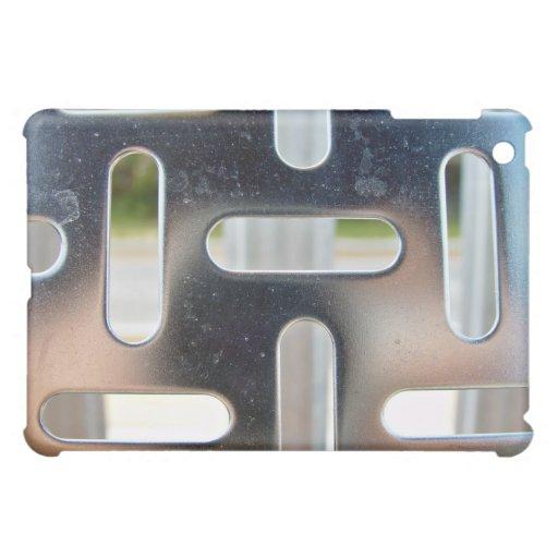Chequer Plate-cut slots iPad Mini Cover