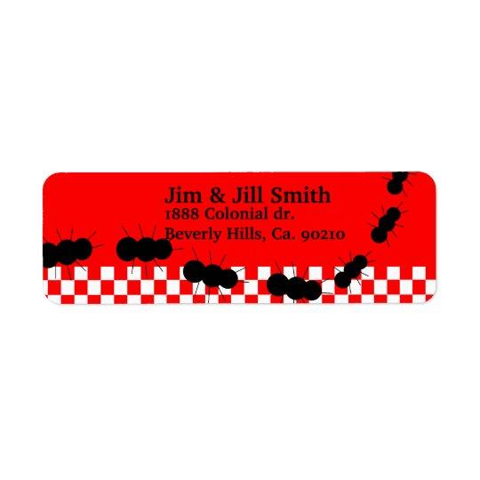 Chequerboard Ants Return Address Label