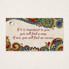 Chequerboard Whimsy Affirmation /Business Cards