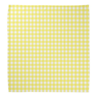 Chequerboard yellow dog bandana