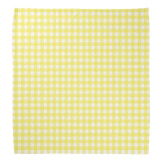 Chequerboard yellow dog head kerchiefs