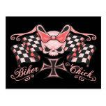Chequered Biker Chick