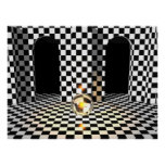 Chequered Board Marble Poster