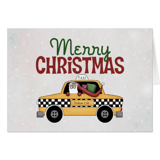 Chequered Cab Christmas Gift Card