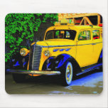 chequered cab mouse pad