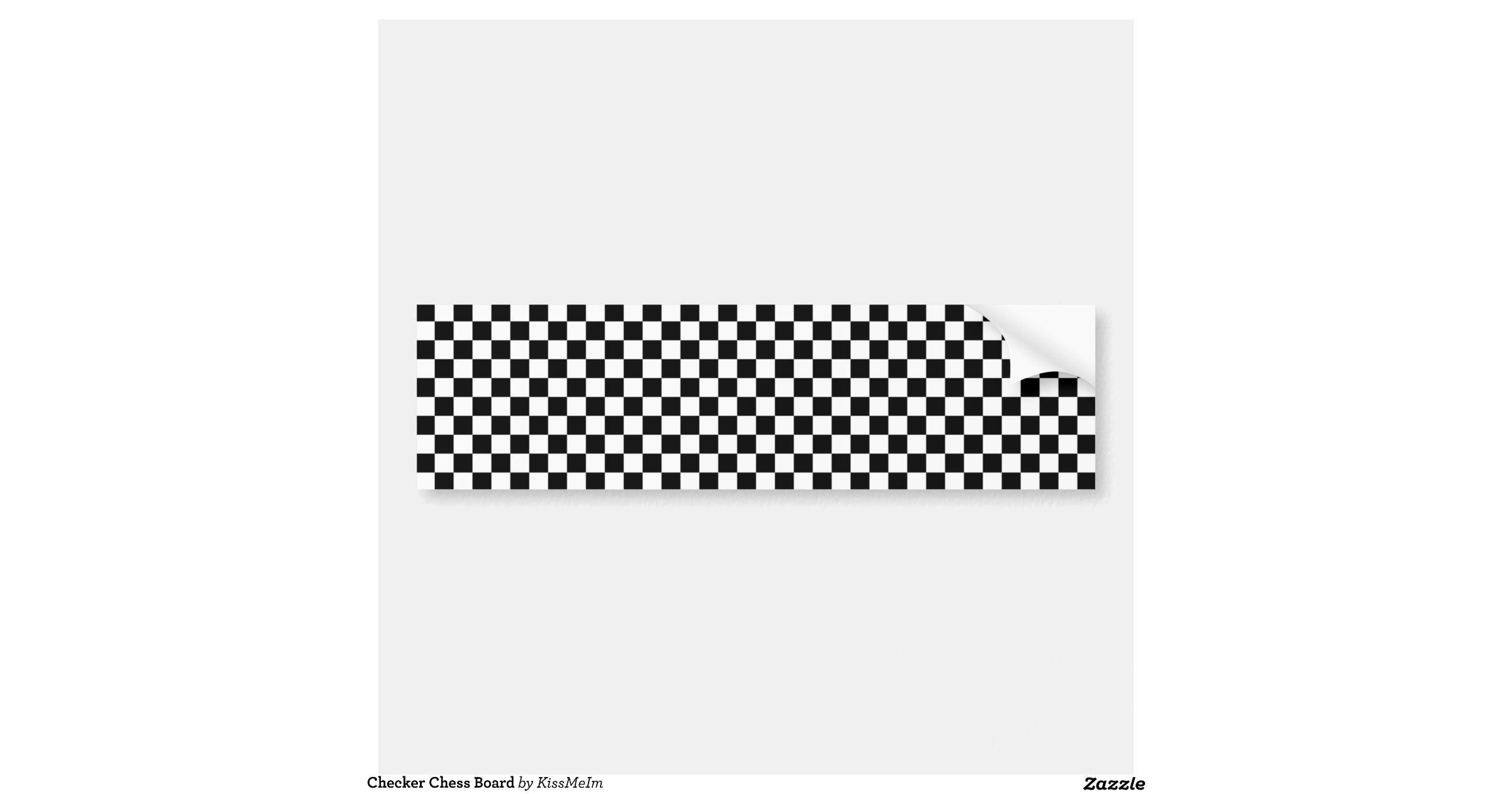 chequered chess board bumper sticker