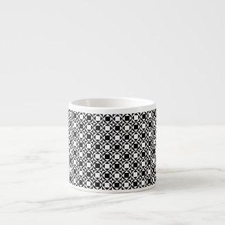 Chequered Espresso Mug - Black&White