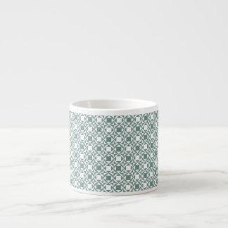 Chequered Espresso Mug - Sage&White