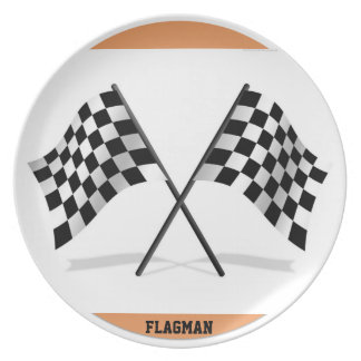 """Chequered Flag 3"" by Flagman Plate"