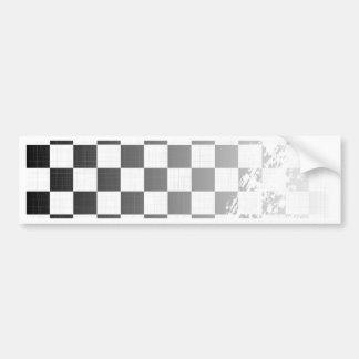 Chequered Flag Grunge Bumper Sticker