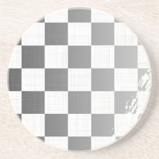 Chequered Flag Grunge Coaster