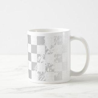 Chequered Flag Grunge Coffee Mug