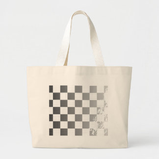 Chequered Flag Grunge Large Tote Bag