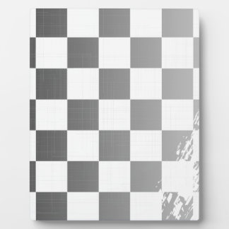 Chequered Flag Grunge Photo Plaques