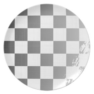 Chequered Flag Grunge Plate