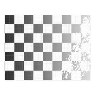 Chequered Flag Grunge Postcard