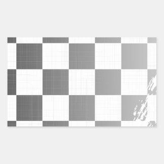 Chequered Flag Grunge Rectangular Sticker
