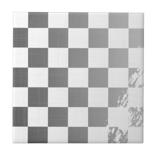 Chequered Flag Grunge Small Square Tile