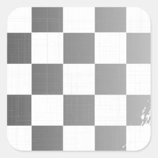 Chequered Flag Grunge Square Sticker