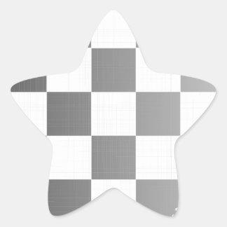 Chequered Flag Grunge Star Sticker