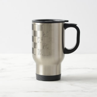 Chequered Flag Grunge Travel Mug