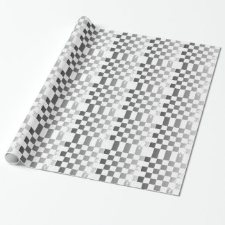 Chequered Flag Grunge Wrapping Paper
