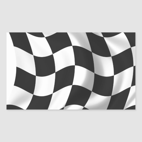 Chequered Flag - Racing Flag Rectangular Sticker