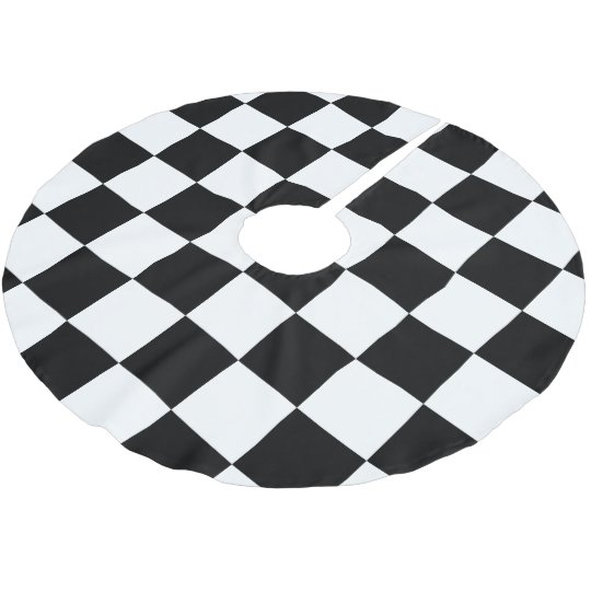 Chequered Flag Racing Pattern Brushed Polyester Tree Skirt