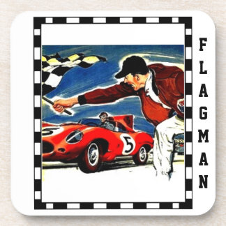 """Chequered Flagman"" by Flagman Coaster"