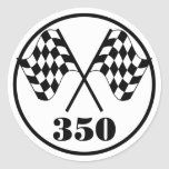 Chequered Flags Round Stickers