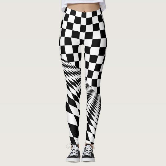 Chequered hipster leggings yoga pants