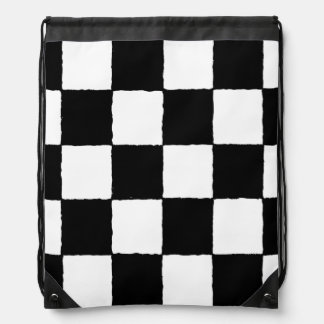 chequered-I Drawstring Backpack