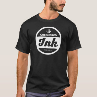 Chequered Ink Man's T-Shirt (Black)