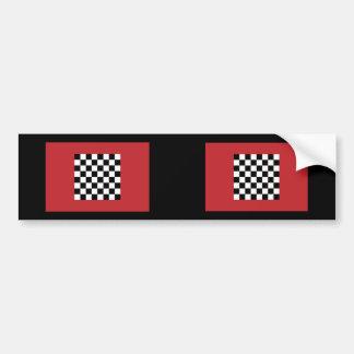 Chequered   Morocco, Morocco Bumper Sticker