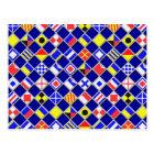 Chequered Nautical Signal Flags Decor Postcard