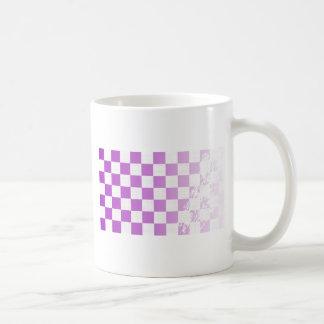 Chequered Purple Grunge Coffee Mug